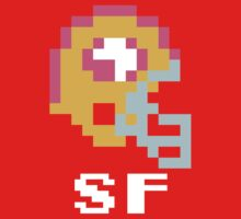 Tecmo Bowl San Francisco Football 8-Bit NES Nintendo Pixel T Shirt One Piece - Short Sleeve