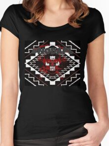 #NoDAPL Skull , Proceeds to Sacred Stone Camp Women's Fitted Scoop T-Shirt