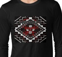 #NoDAPL Skull , Proceeds to Sacred Stone Camp Long Sleeve T-Shirt