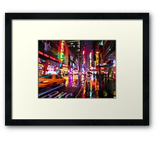 City Colors at Night Framed Print