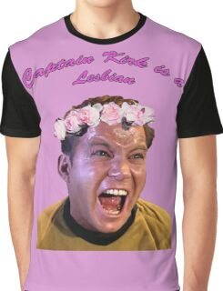 Kirk is a Lesbian Graphic T-Shirt