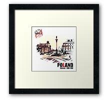 Poland - Polska Warsaw Warszawa Framed Print
