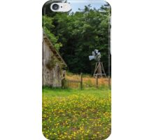 Windmill Flowers And A Barn iPhone Case/Skin