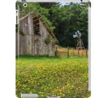 Windmill Flowers And A Barn iPad Case/Skin