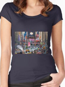 New Times Square Women's Fitted Scoop T-Shirt