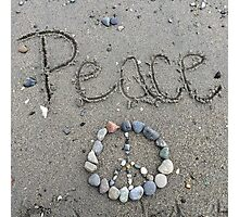 Peace, Love, Dove Photographic Print
