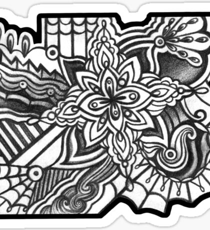 Abstract Dimensions (Black and White) Design 021 Sticker