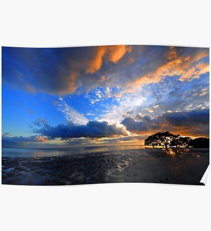 Nudgee Beach at sunrise. Brisbane, Queensland, Australia. Poster