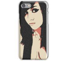 Sexy goth, brunette girl glamour posing, seducing, tease iPhone Case/Skin
