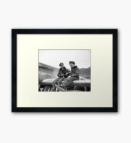 Mustang Pilots, Korean War Framed Print
