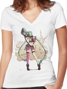 Jinx Women's Fitted V-Neck T-Shirt
