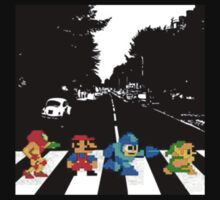 Nintendo Sprites on Abbey Road | Unisex T-Shirt