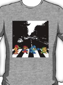Nintendo Sprites on Abbey Road T-Shirt