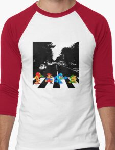 Nintendo Sprites on Abbey Road Men's Baseball ¾ T-Shirt