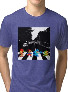 Nintendo Sprites on Abbey Road Tri-blend T-Shirt