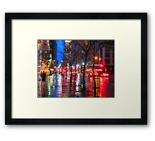 5th Ave Abstract Framed Print