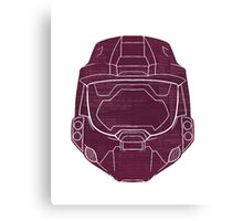 Red Vs Blue Simmons Interior Canvas Print