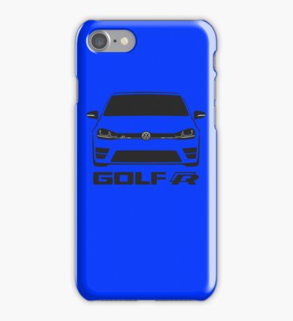 MK7 VW Golf R Front View iPhone Case/Skin