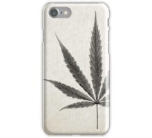 Leaf Print IV (Cannabis) iPhone Case/Skin