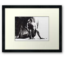 Fount III - Conté Drawing Framed Print