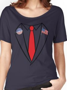 Donald Trump Suit and Tie Halloween Costume Women's Relaxed Fit T-Shirt