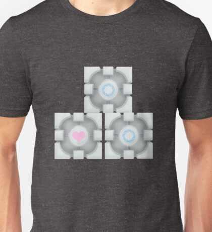 Stacked Cubes (Portal 2) Unisex T-Shirt