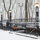 Bryant Park Subway and Snow by andykazie