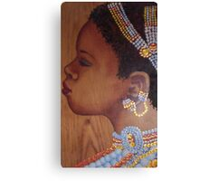 African Bride Canvas Print