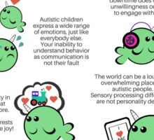 Signs of Autism Poster Sticker