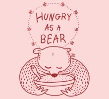 Hungry As A Bear - One Color - Red Kids Clothes
