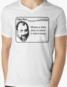 Waste a little time to show it who's boss. Mens V-Neck T-Shirt
