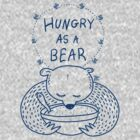 Hungry As A Bear - One Color - Blue by TsipiLevin