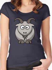 Simon the goat Women's Fitted Scoop T-Shirt