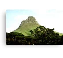 Lion's Head from Table Mountain, Cape Town Canvas Print