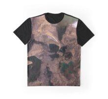 Amu Darya River Delta and South Aral Sea Satellite Image Graphic T-Shirt