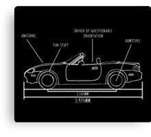 NB Miata Blueprint Canvas Print