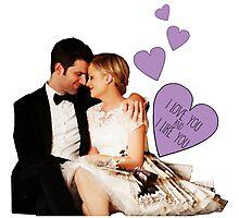 Ben & Leslie - I Love You & I Like You  Photographic Print