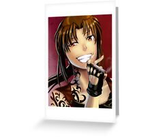 Badass Revy Greeting Card