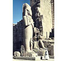 Huge Sculpture of Ramses III, Karnak, Egypt  Photographic Print