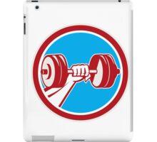 Hand Lifting Dumbbell Front Circle Retro iPad Case/Skin