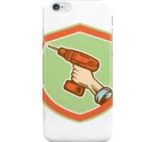 Handyman Hand Holding Cordless Drill Retro iPhone Case/Skin
