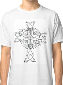 Celtic Cross - Black & White Classic T-Shirt
