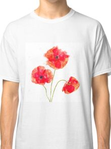 Water Color Poppies Classic T-Shirt