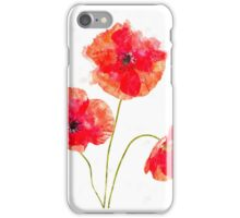 Water Color Poppies iPhone Case/Skin