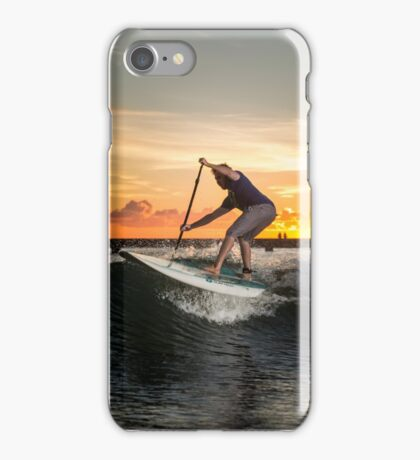 Red Bull Athlete Paddle Boarding in Chicago  iPhone Case/Skin