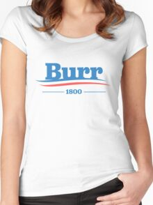 burr for president Women's Fitted Scoop T-Shirt
