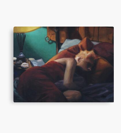 Stacy Napping Canvas Print