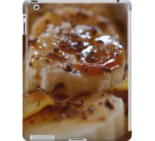 Pancake Dessert With Bananas, Caramel And Whipped Cream iPad Case/Skin