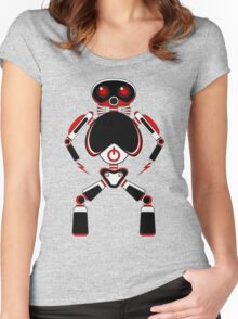 Red Power Robot Women's Fitted Scoop T-Shirt