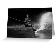 Wake boarding in the Shadows  Greeting Card